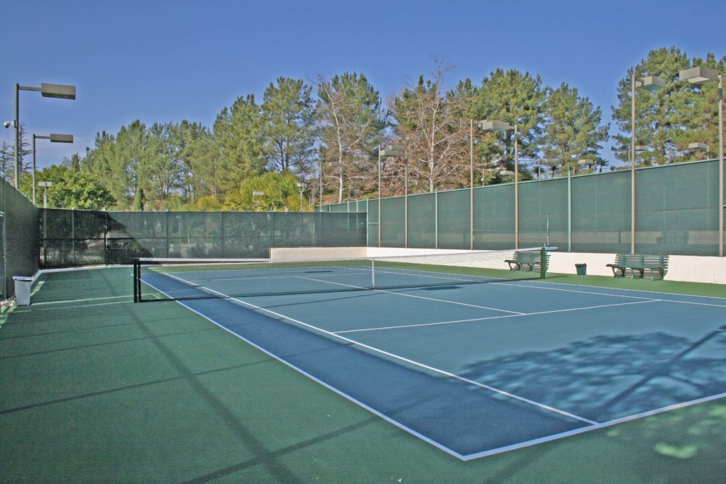 One of Four AssociationTennis Courts